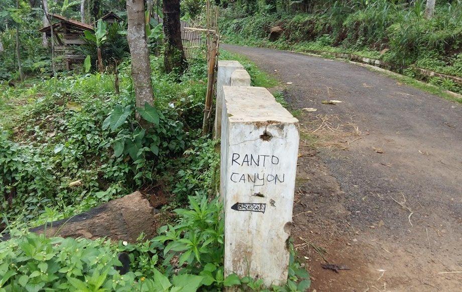 petunjuk jalan ke ranto canyon