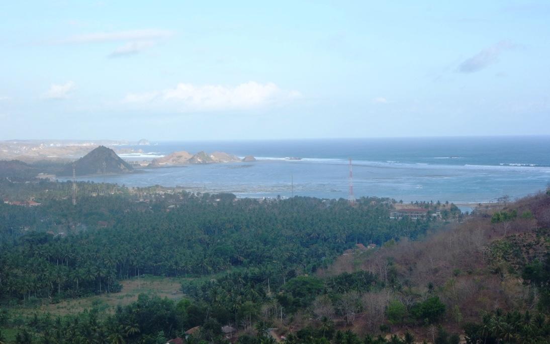 panorama pantai pulau lombok