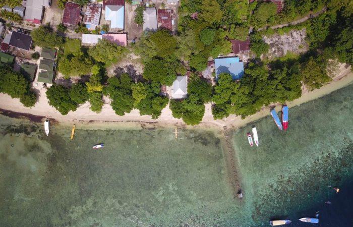 pulau siladen dari drone