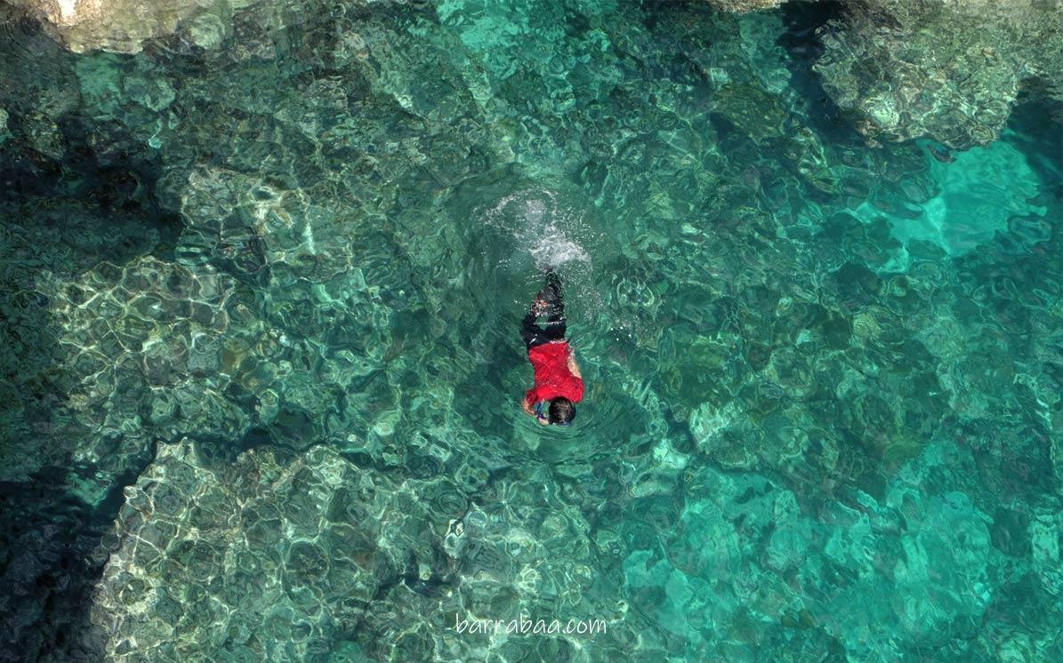snorkeling di tebing apparalang
