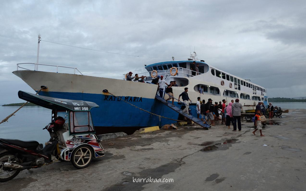 km ratu maria rute ternate - pulau morotai
