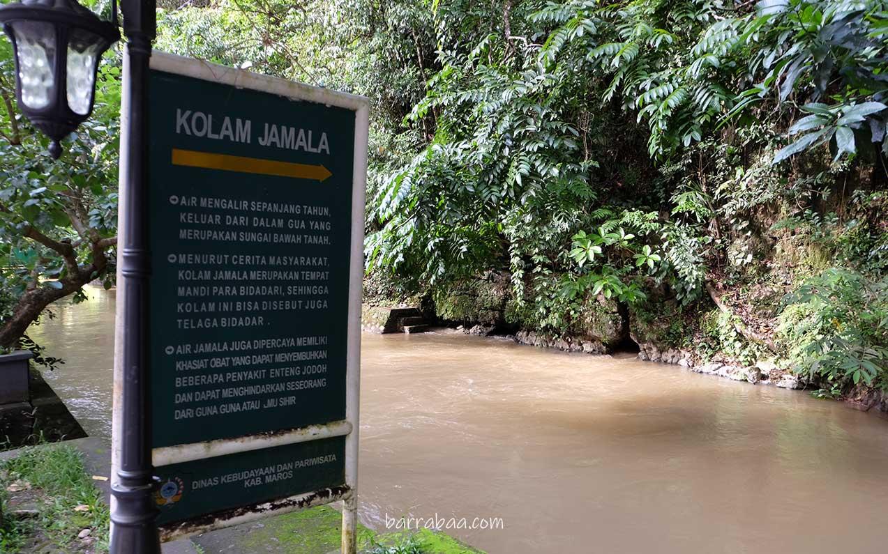 kolam jamala taman nasional bantimurung